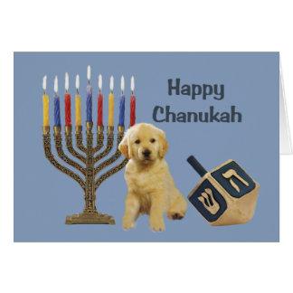 Golden Retriever  Chanukah Card Menorah Dreidel5
