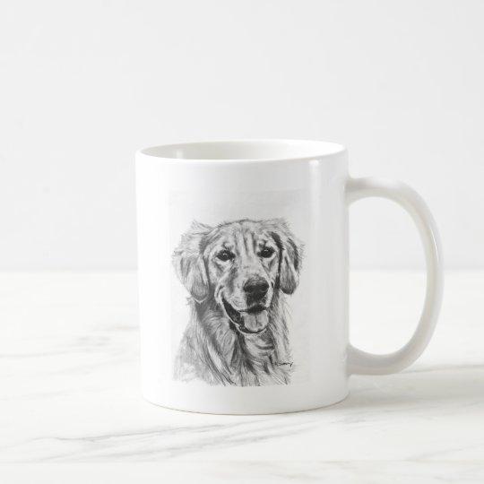 Golden Retriever Charcoal Sketch Coffee Mug
