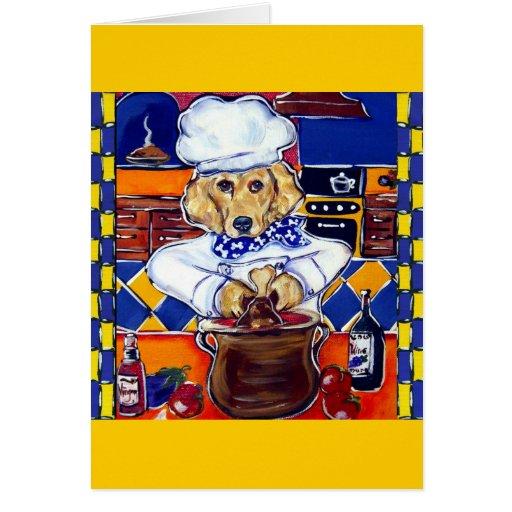 Golden Retriever Chef Greeting Card