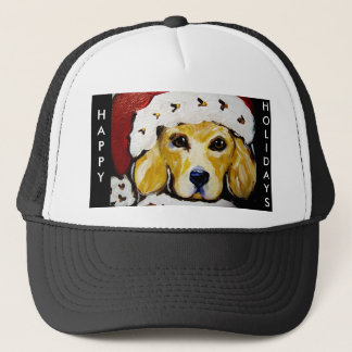 Golden Retriever Christmas Cap