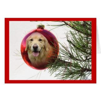 Golden Retriever Christmas Card Ball