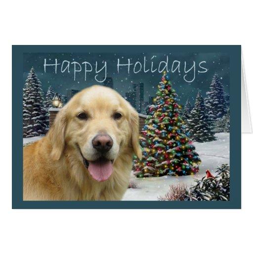 Golden Retriever  Christmas Card Evening