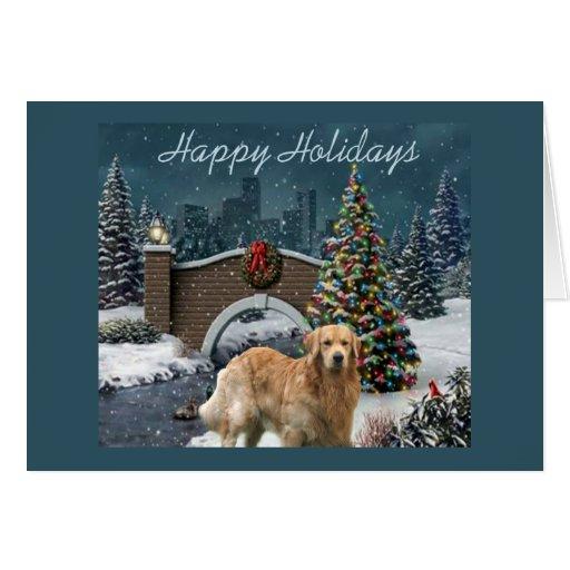 Golden Retriever  Christmas Card Evening11