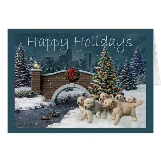 Golden Retriever  Christmas Card Evening4