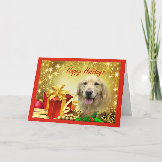 golden retriever christmas card gifts