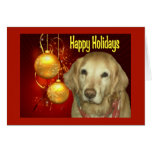 Golden Retriever  Christmas Card Happy Holidays