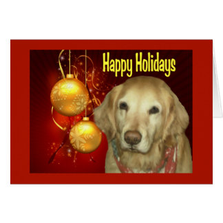 Golden Retriever  Christmas Card Happy Holidays