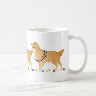 Golden Retriever Christmas Design Coffee Mug