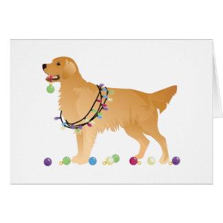 Golden Retriever Christmas Design Greeting Card