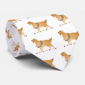 Golden Retriever Christmas Design Tie