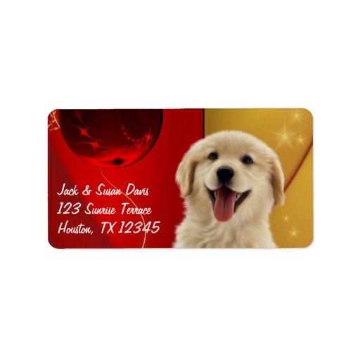 Golden Retriever Christmas Gift or Address Labels