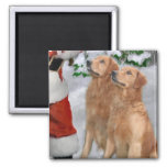 Golden Retriever Christmas Gifts 2 Inch Square Magnet