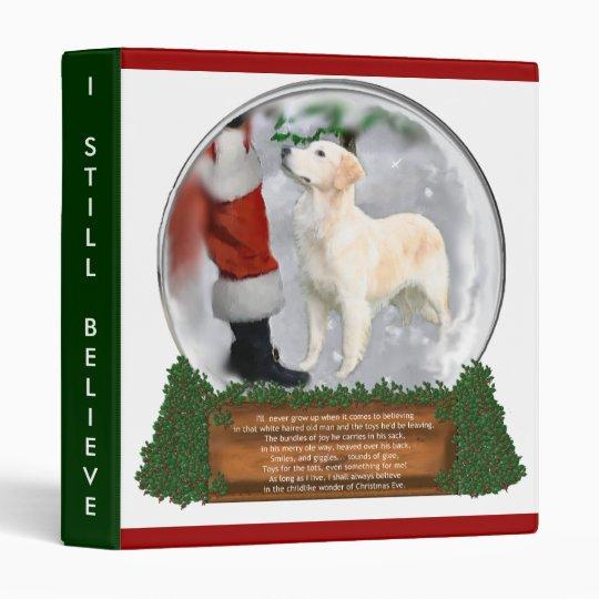Golden Retriever Christmas Gifts 3 Ring Binder