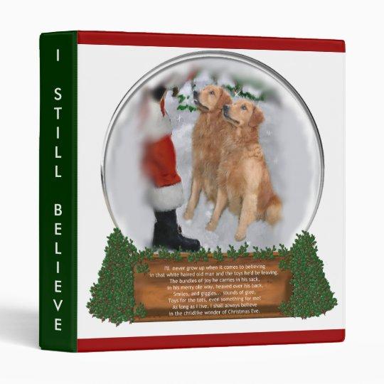 Golden Retriever Christmas Gifts Binder