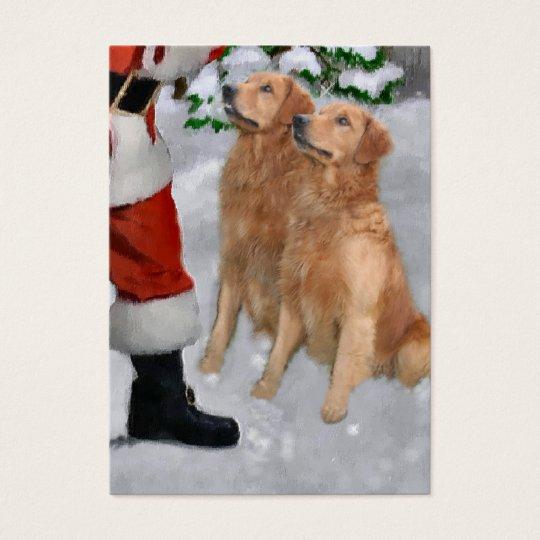 Golden Retriever Christmas Gifts Business Card