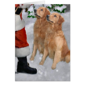Golden Retriever Christmas Gifts Card
