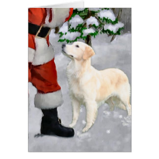 Golden Retriever Christmas Gifts Greeting Cards