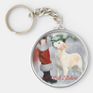 Golden Retriever Christmas Gifts Keychain