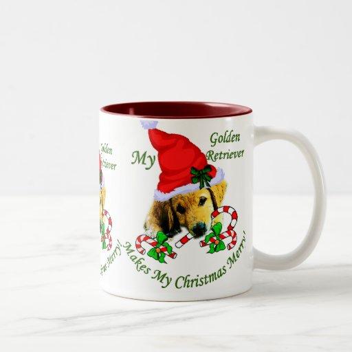 Golden Retriever Christmas Gifts Coffee Mugs
