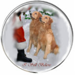 "Golden Retriever Christmas Gifts Ornament<br><div class=""desc"">I&#39;ll never grow up when it comes to believing in that white haired old man and the toys he&#39;d be leaving. The bundles of joy he carries in his sack, in his merry ole way, heaved over his back. Smiles, and giggles... sounds of glee, Toys for the tots, even something...</div>"