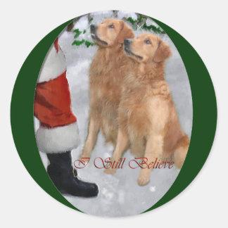 Golden Retriever Christmas Gifts Stickers