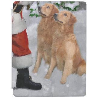 Golden Retriever Christmas iPad Cover