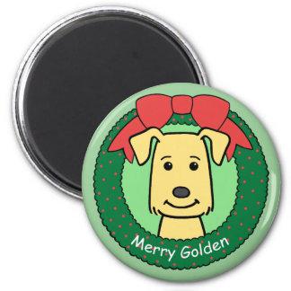 Golden Retriever Christmas Magnet