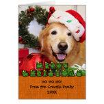 Golden Retriever Christmas Photo Card