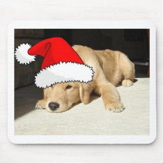 Golden Retriever Christmas Puppy Mouse Pad