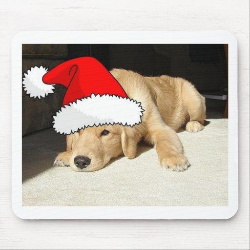 Golden Retriever Christmas Puppy Mouse Pads