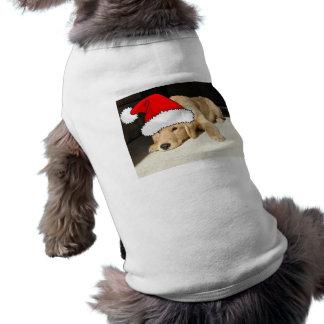 Golden Retriever Christmas Puppy Tee