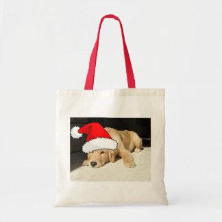Golden Retriever Christmas Puppy Tote Bag
