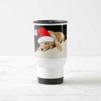 Golden Retriever Christmas Puppy Travel Mug