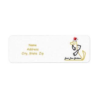 Golden Retriever Christmas Return Address Label