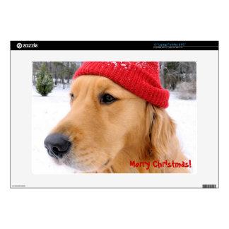 """Golden Retriever Christmas Skin For 15"""" Laptop"""