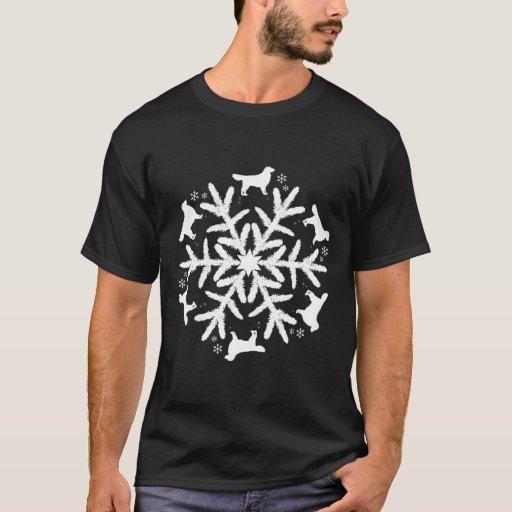 Golden Retriever Christmas Snowflake Pattern T-Shirt