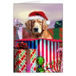 Golden Retriever Christmas Surprise Cards