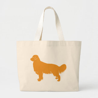 Golden Retriever Classic Profile Large Tote Bag