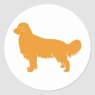 Golden Retriever Classic Profile Round Sticker