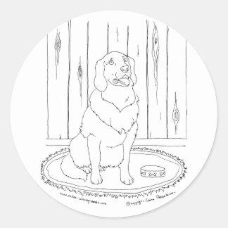 Golden Retriever Classic Round Sticker
