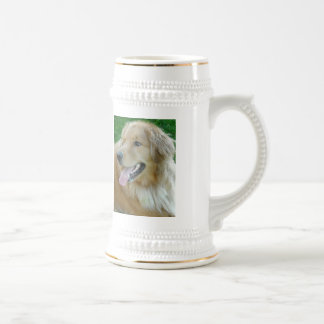 Golden Retriever Close-up Beer Stein