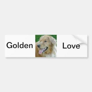 Golden Retriever Close-up Car Bumper Sticker
