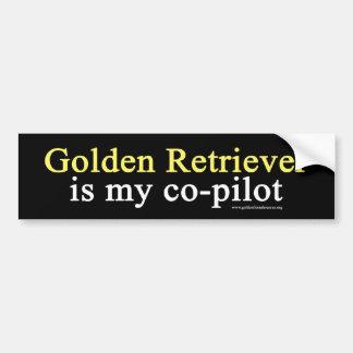 Golden Retriever Co-Pilot Bumper Sticker