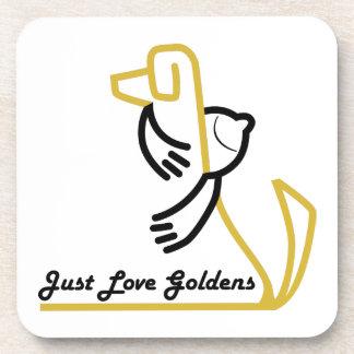 Golden Retriever Coaster, Set of 6 Beverage Coaster