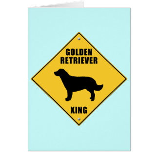 Golden Retriever Crossing (XING) Sign Cards