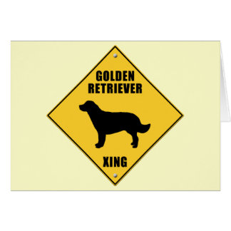 Golden Retriever Crossing (XING) Sign Greeting Card