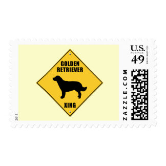 Golden Retriever Crossing (XING) Sign Stamp
