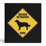 Golden Retriever Crossing (XING) Sign Vinyl Binder