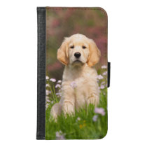 Golden Retriever cute dog puppy Animal Photo - Samsung Galaxy S6 Wallet Case