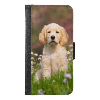 Golden Retriever cute dog puppy Animal Photo - Samsung Galaxy S6 Wallet Case